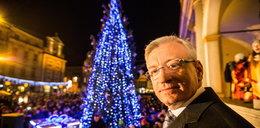 Prezydent Poznania rozświetlił choinkę