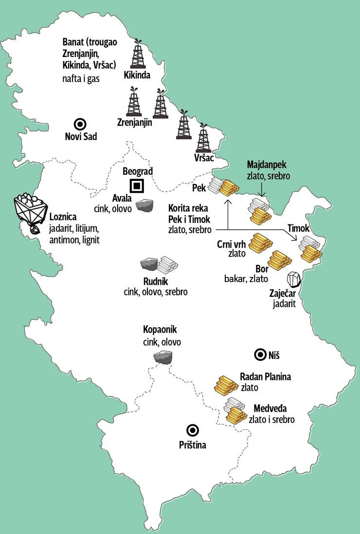 mapa nalaziste foto RAS srbija