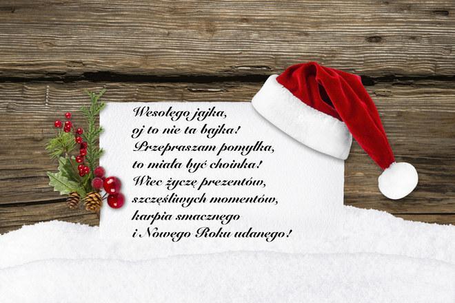 Śmieszne życzenia bożonarodzeniowe i noworoczne