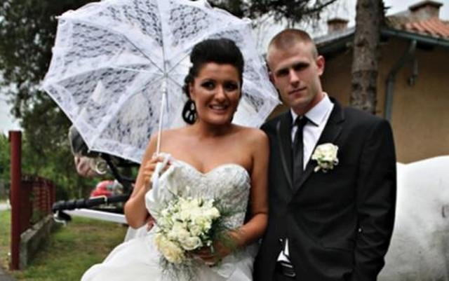 Silvija i Bane na venčanju