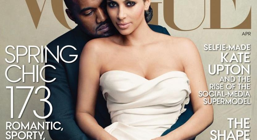 Kim Kardashian, Kanye West on Vogue Magazine