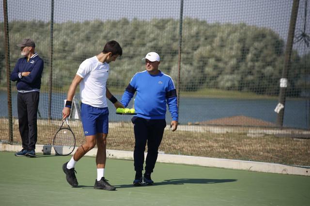 Marjan Vajda i Novak Đoković