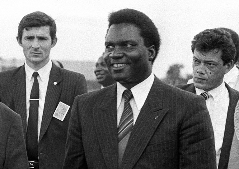 Rwandan president Juvenal Habyarimana (C) was killed when his plane was shot down in 1994, triggering the genocide of some 800,000 in the east African country. - AFP