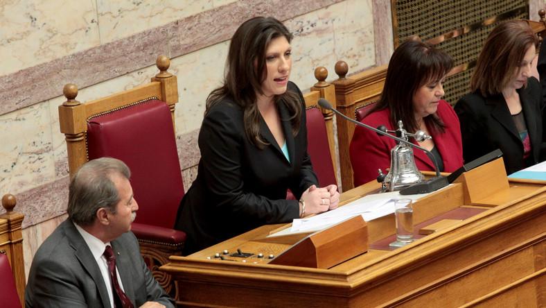 Zoe Konstantopoulou, nowa szefowa greckiego parlamentu