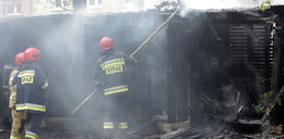Pożar na Bałuckim Rynku w Łodzi. Tam byli bezdomni