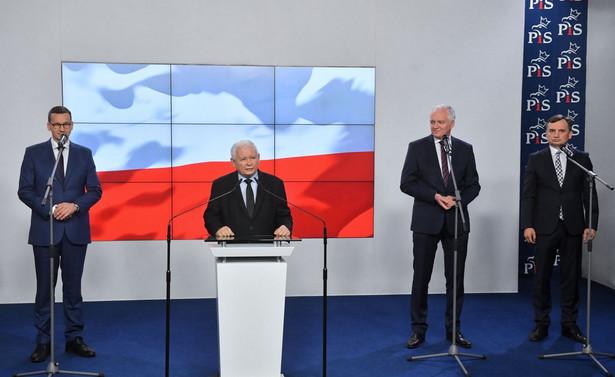 Mateusz Morawiecki, Jarosław Kaczyński, Jarosław Gowin, Zbigniew Ziobro