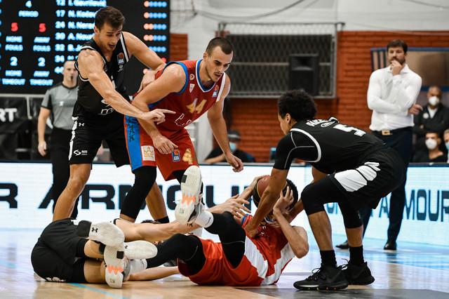 Detalj sa utakmice KK Partizan - KK Borac
