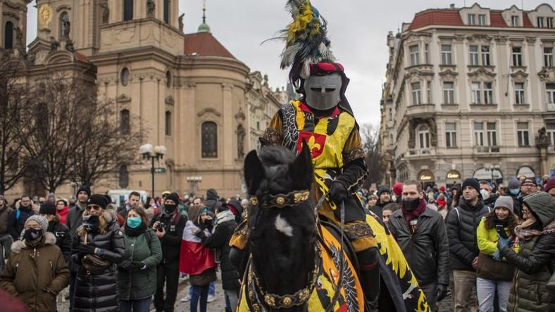 Protest w Czechach EPA/MARTIN DIVISEK Dostawca: PAP/EPA.