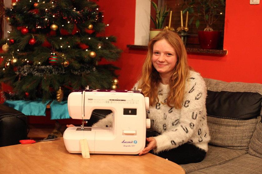 Rok temu Natalia otrzymała wymarzoną maszynę do szycia