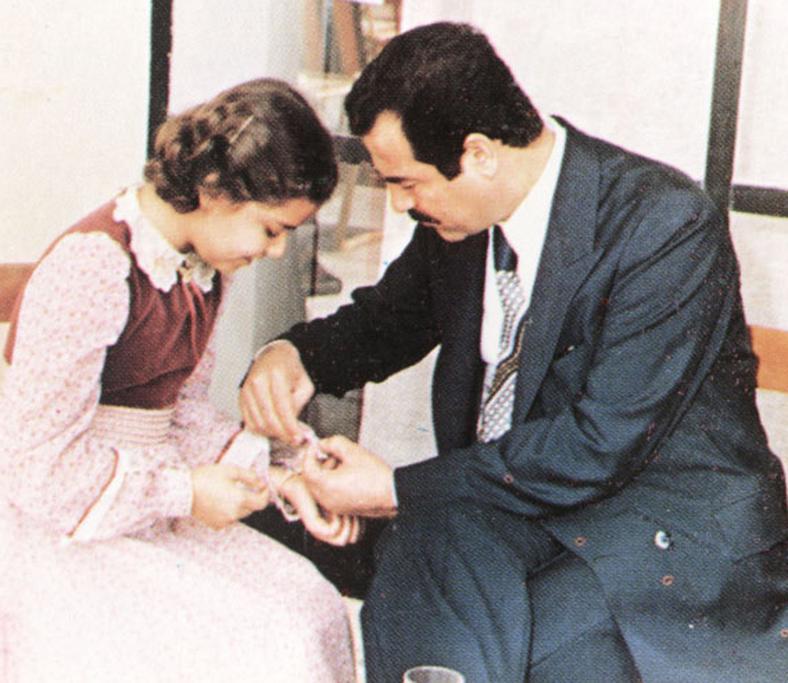 Raghad z ojcem