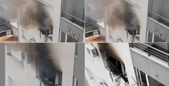 Ovo su bile scene eksplozije bombe