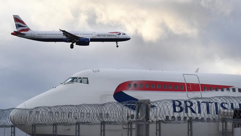 samolotoy linii British Airways