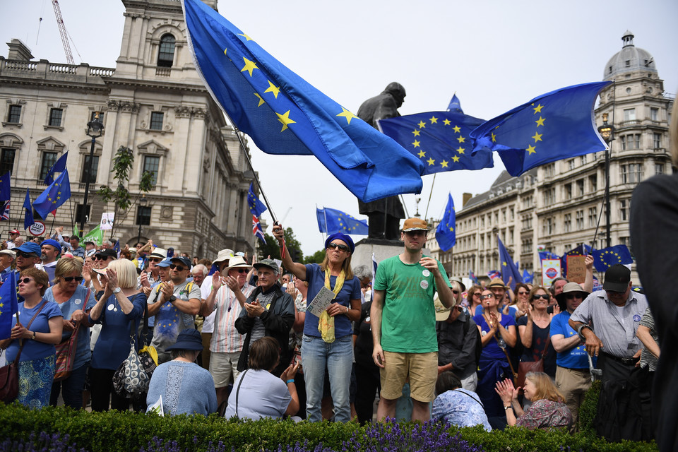 epa06833879 - BRITAIN BREXIT PEOPLES MARCH (People's March Against Brexit in London)
