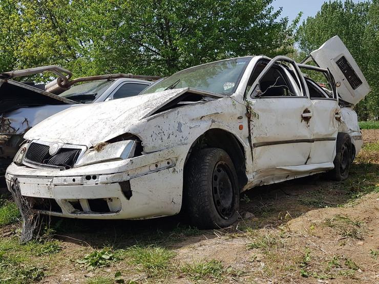 Automobil u kom su se nalazili Srbi poginuli u nesreći u Hrvatskoj /Foto: Branimir Bradarić