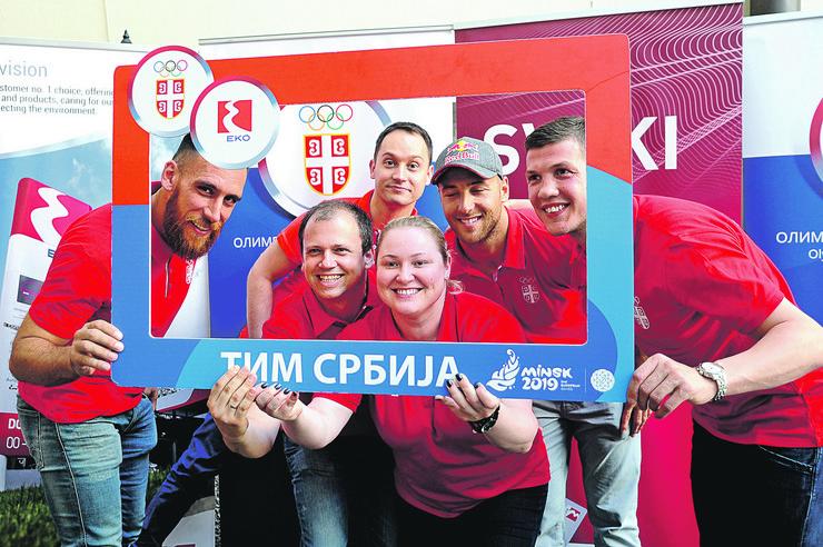 Olimpijci Srbije, Evropske igre Minsk