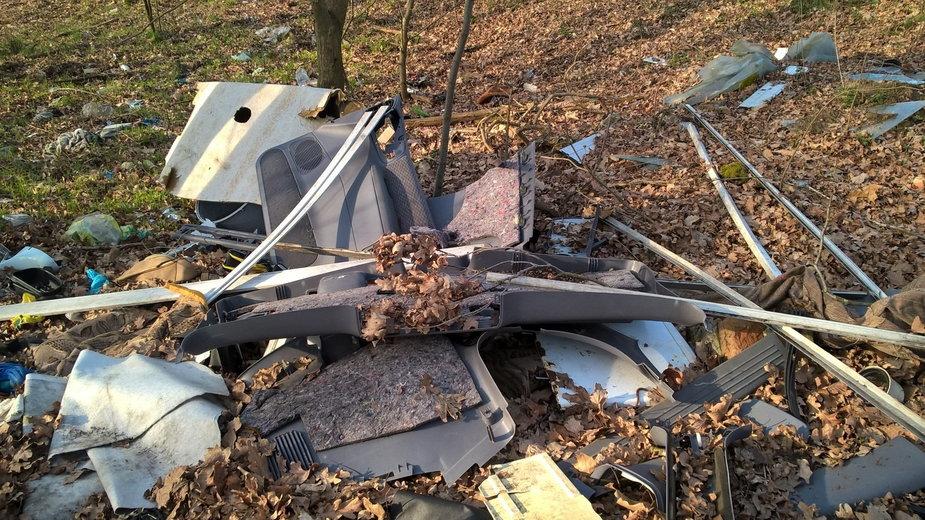 Dzikie wysypisko śmieci na terenie gminy Szprotawa