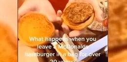 Pokazała jak wygląda hamburger z McDonald's po 24 latach. Nie uwierzycie!