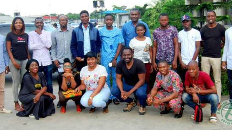 Members of the Atheist Society of Nigeria at a gathering
