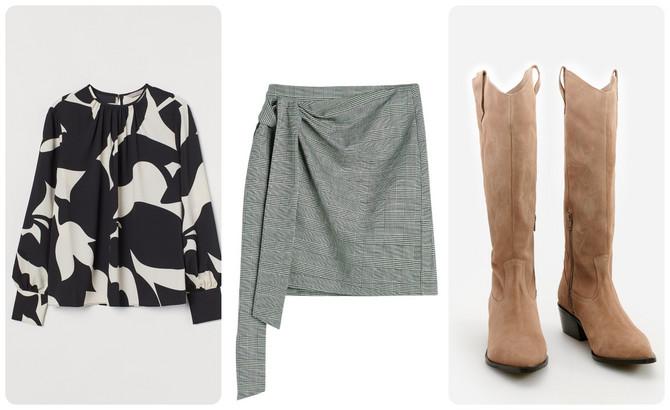 "Bluza ""H&M"", suknja i čizme ""Reserved"""