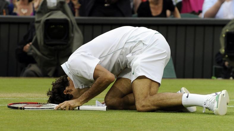 W finale Wimbledonu Roger Federer wygrał z Andym Murrayem