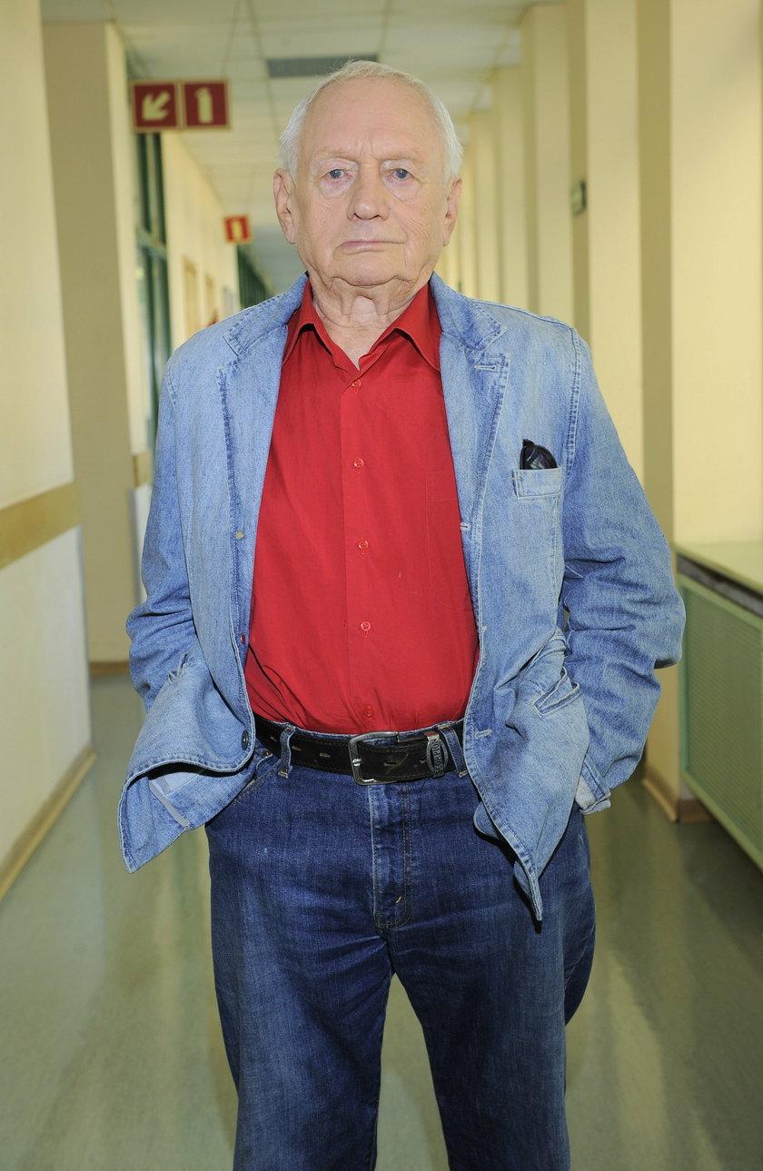 Witold Pyrkosz na planie zdjęciowym