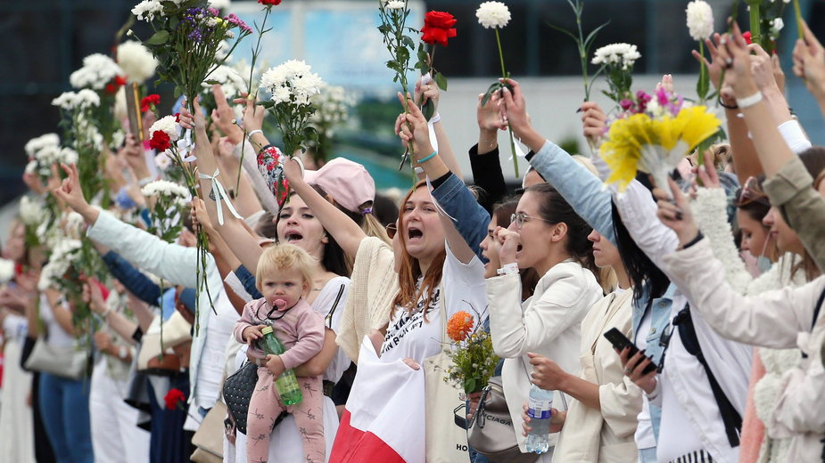 Kobiety wyszły na ulice Mińska