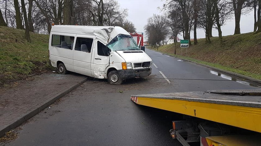 Wypadek busa w Zbąszynku
