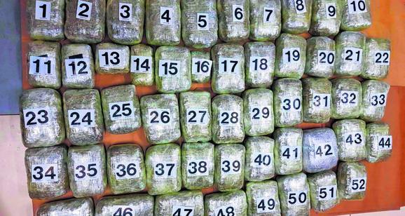 Zaplenjeni kokain u kristalima izuzetne čistoće bio zapakovan u 28 paketa
