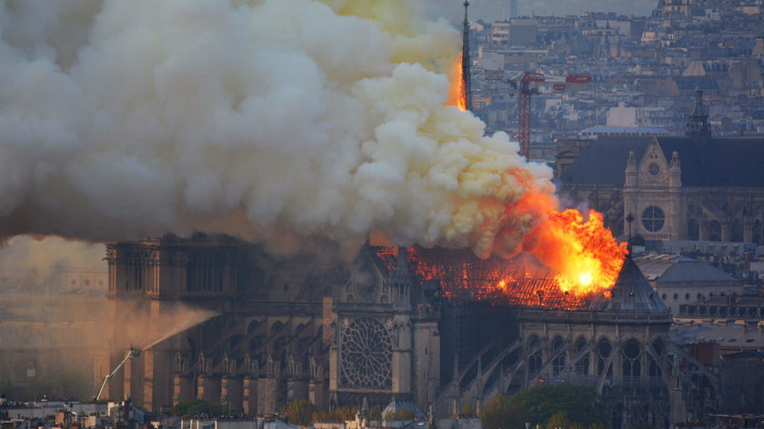 Relacje świadków pożaru Notre Dame