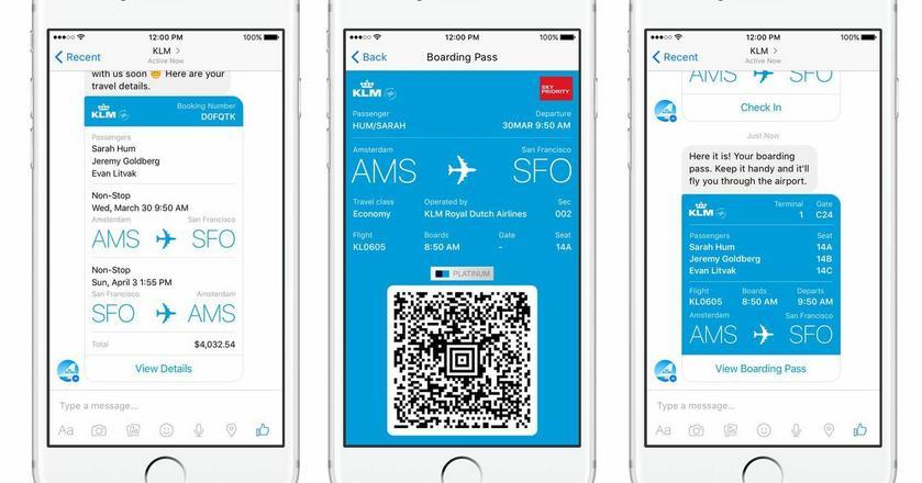 Bot stworzony w 2016 roku przez linię lotniczą KLM