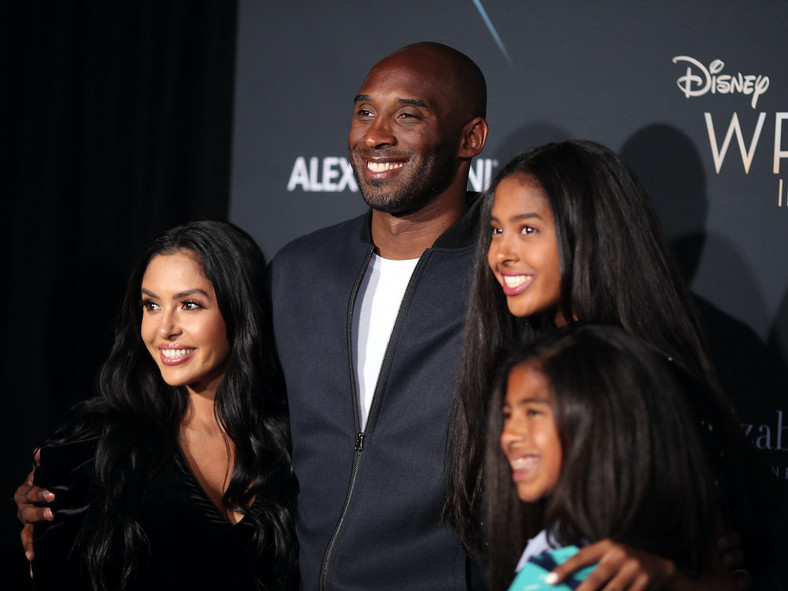 Kobe Bryant and his family before his demise