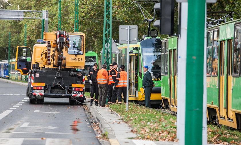 Uszkodzona trakcja w Poznaniu