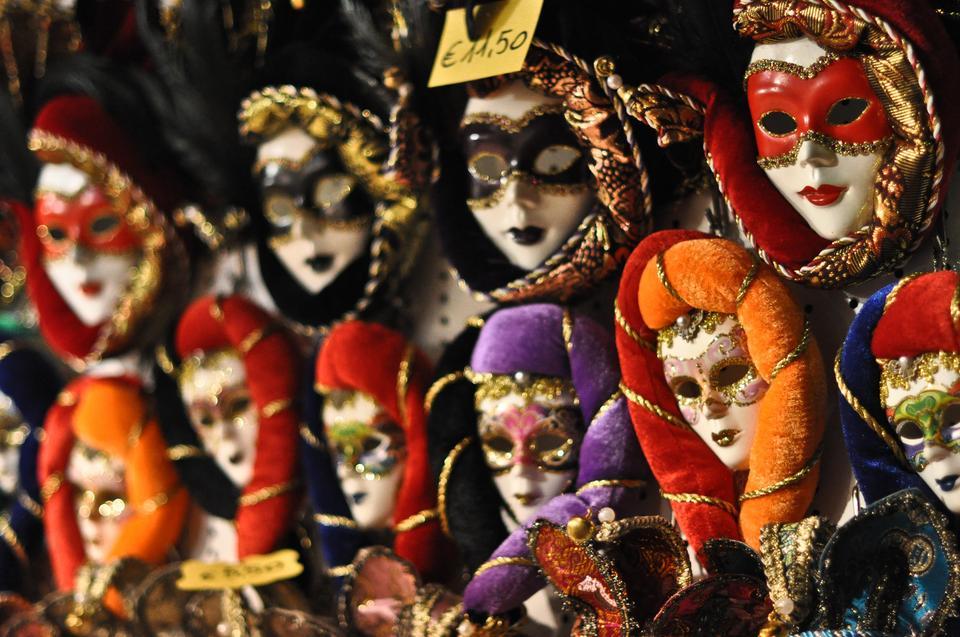 Słynne weneckie maski