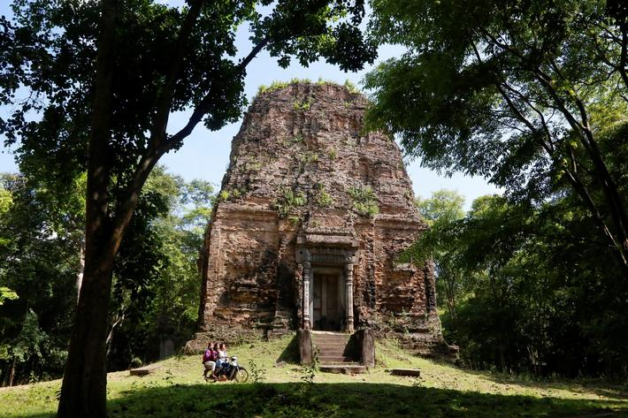 Sambor Prei Kuk temple, an archaeological site of Ancient Ishanapura, is seen in Kampong Thom provin