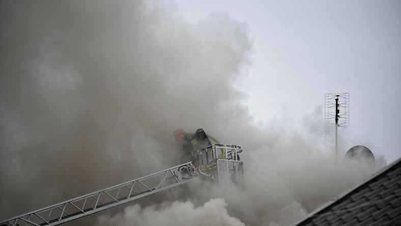 Pożar domu jednorodzinnego w Łomiankach