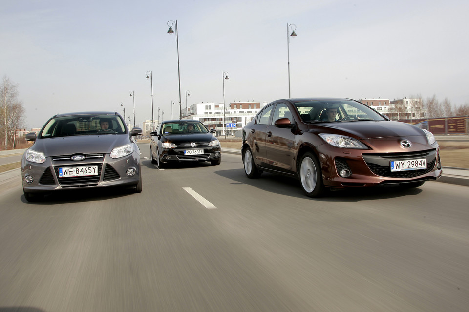 Ford Focus, Mazda 3, VW Jetta