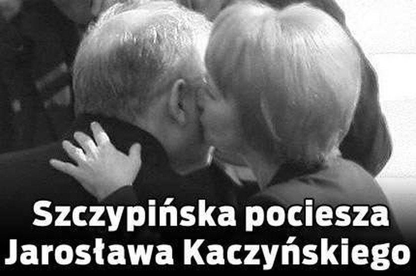 Szczypińska pociesza Jarosława Kaczyńskiego