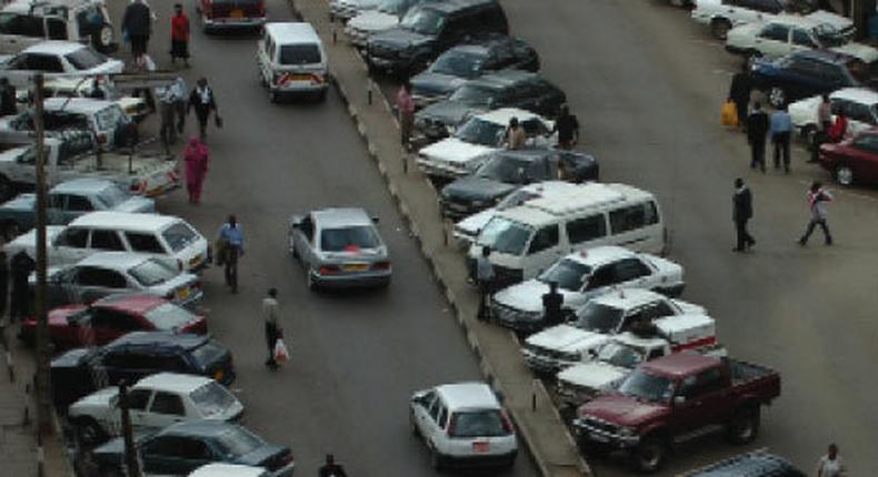 Vehicles at a car park in Nairobi