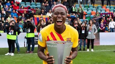 Super Falcons captain Asisat Oshoala wins league title with Barcelona Femení after women's Spanish league was cancelled due to coronavirus pandemic