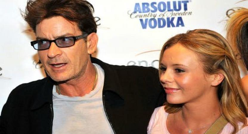 Charlie Sheen with ex, Bree Olsen