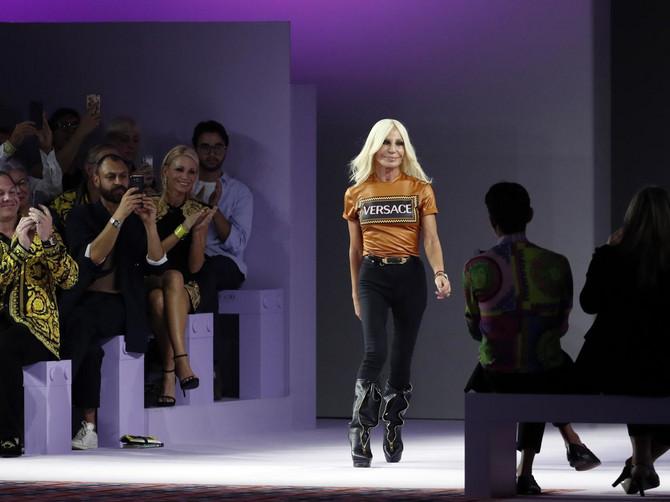 Donatela Versače pre nekoliko dana na Nedelji mode u Milanu