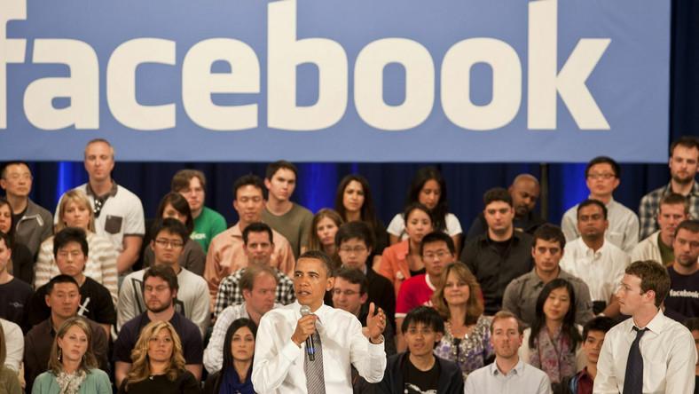 Barack Obama, szef Facebooka i pracownicy