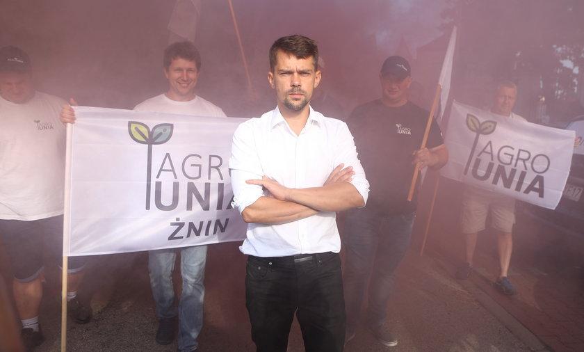 Andrzej Kołodziejczak, szef Agrounii.