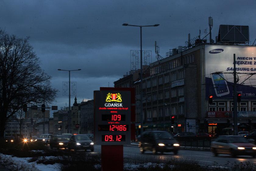 nieoświetlone ulice w Gdańsku