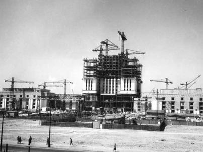 Pałac Kultury i Nauki w trakcie budowy