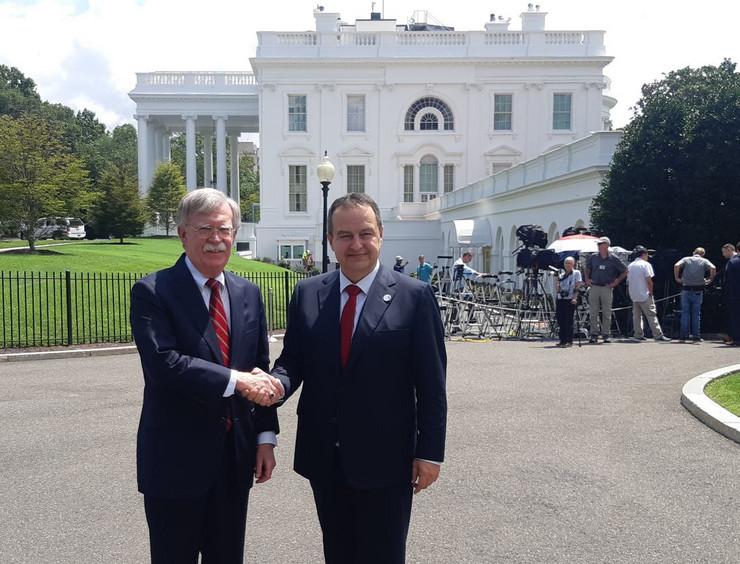 Ivica Dačić i Džon Bolton u Vašingtonu