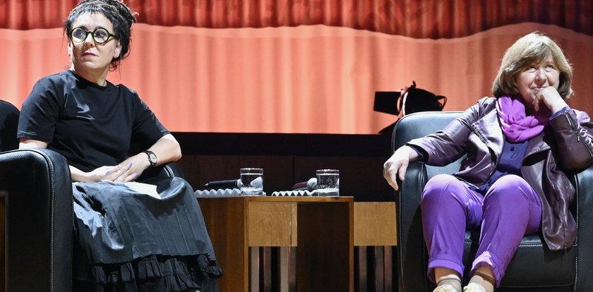 Dwie Noblistki spotkały się we Wrocławiu. O czym rozmawiały Olga Tokarczuk i Swietłana Aleksijewicz?