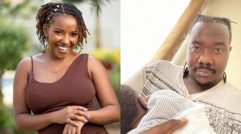 Willis Raburu & Bae Ivy Namu reveal son's face for the first time (Photo)