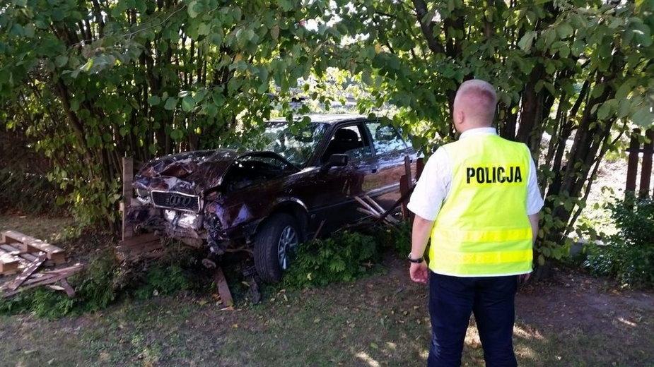 Wypadek policjanta w Wieluniu