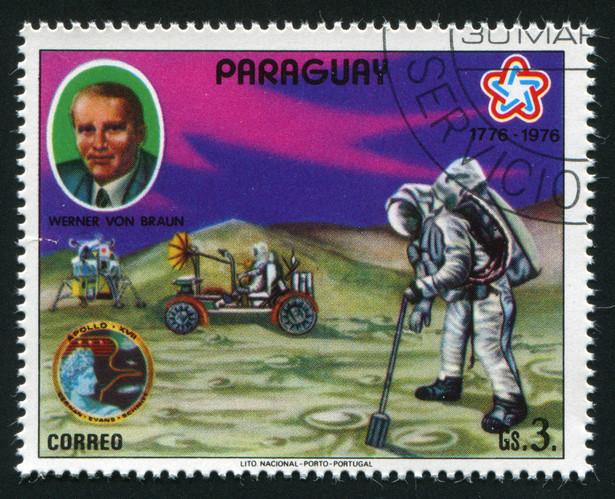 Wernher von Braun, twórca kosmicznego programu NASA, w czasie II wojny Sturmbannführer SS